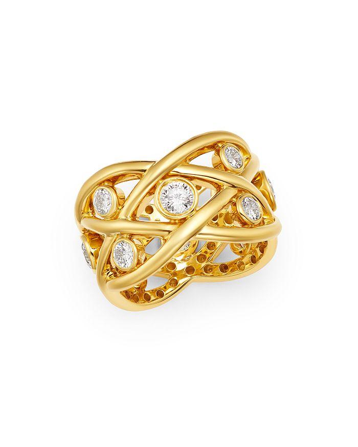Roberto Coin - 18K Yellow Gold Baci Diamond Eternity Ring