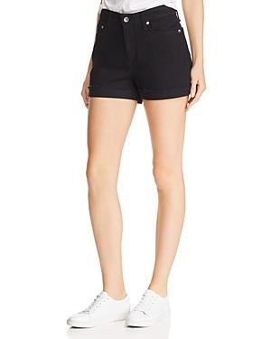 rag & bone Nina High-Rise Denim Shorts in Coal