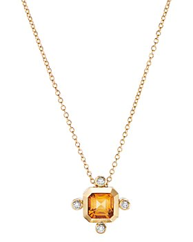 David Yurman - Novella Pendant Necklace in 18K Yellow Gold