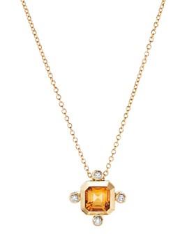 David Yurman - Novella Pendant Necklace in 18K Yellow Gold