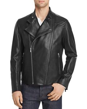 HUGO - Lienard Leather Moto Jacket