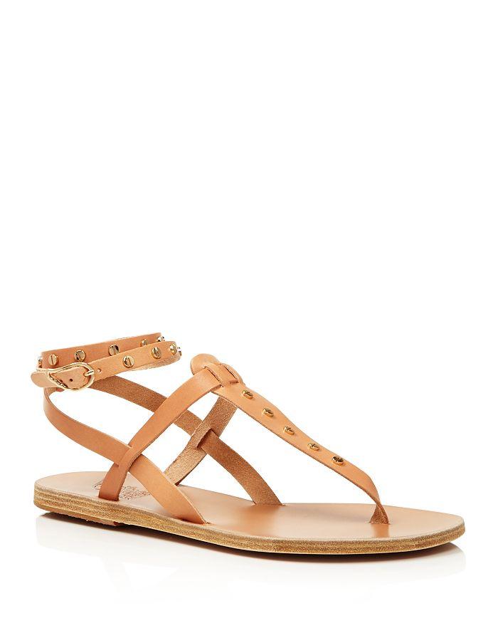 Ancient Greek Sandals - Women's Estia Studded Leather Thong Sandals