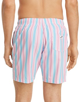 BOARDIES - Candy-Stripe Swim Trunks
