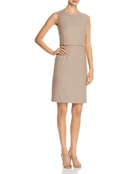 0d2ec3e72c BOSS - Dutara Virgin Wool Sheath Dress ...