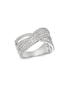 Bloomingdale's - Diamond Crossover Band in 14K White Gold, 1.5 ct. t.w. - 100% Exclusive