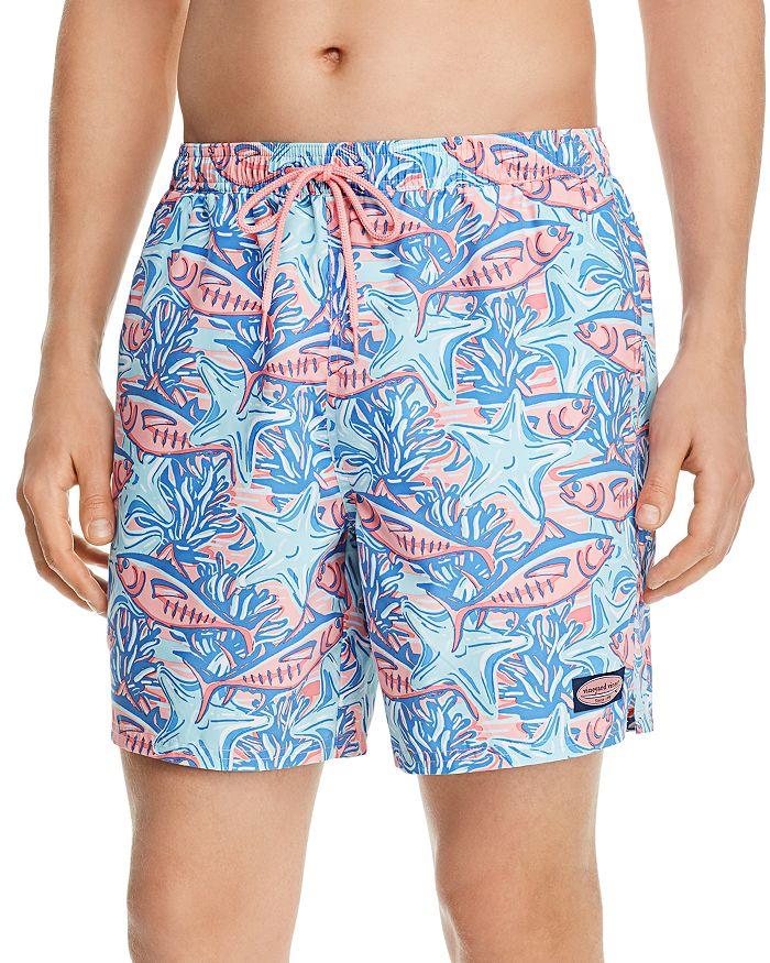 3be6640158 Vineyard Vines Chappy Tuna & Starfish-Print Swim Trunks | Bloomingdale's
