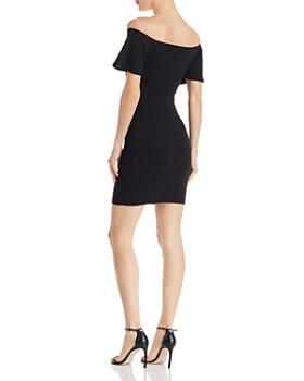 AQUA - Off-the-Shoulder Bodycon Dress - 100% Exclusive