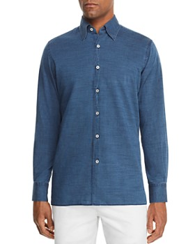 10d9ddfb511 Canali - Chambray Regular Fit Sport Shirt ...
