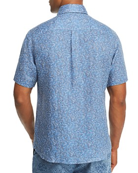 Johnnie-O - Rio Short-Sleeve Abstract-Print Classic Fit Button-Down Shirt