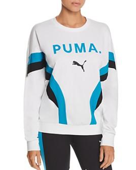 PUMA - Chase Mesh-Back Sweatshirt