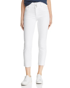 Hudson - High Rise Ankle Skinny Jeans in White
