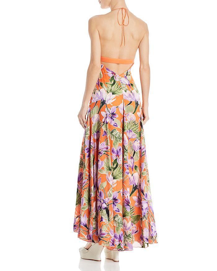 1d36fd3e7734 Alice and Olivia Alice + Olivia Hetty Floral Halter Maxi Dress ...