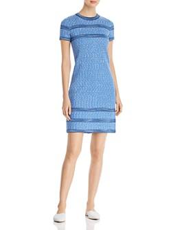 St. John - Knit-Trim Tweed Dress