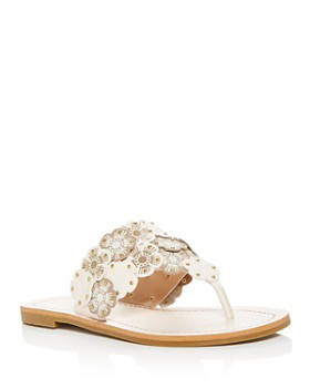 57588494584e COACH - Women s Lottie Floral Thong Sandals ...