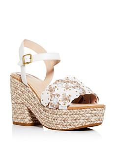 COACH - Women's Floral Espadrille Platform Block-Heel Sandals