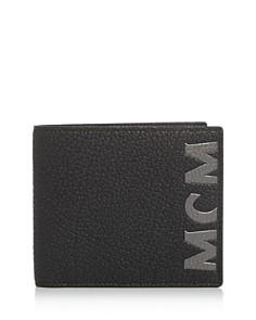 MCM - Big Logo Leather Bi-Fold Wallet