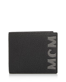 MCM - Big Logo Leather Bi-Fold Wallet