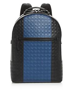 Salvatore Ferragamo - Firenze Gamma Stripe Leather Backpack