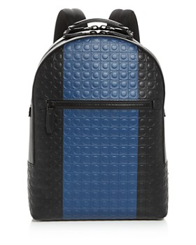 Salvatore Ferragamo - Firenze Gamma Stripe Leather Backpack