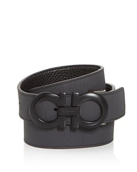 3f5f3ac9338 Salvatore Ferragamo - Men s Double Gancini Reversible Leather Belt ...
