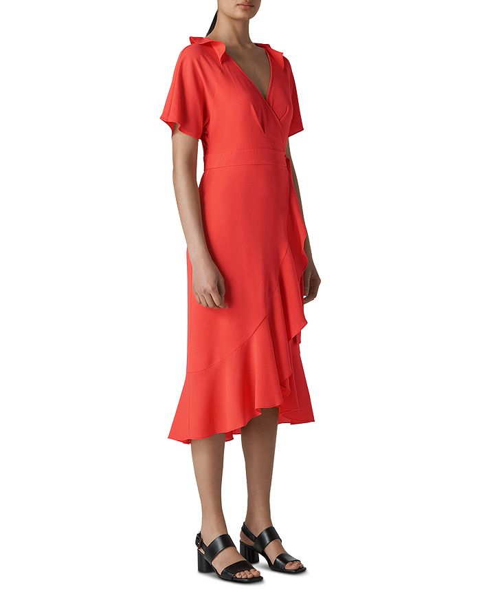 Whistles - Abigail Ruffled Wrap Dress