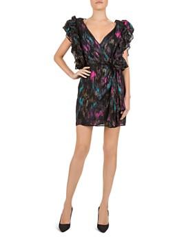 The Kooples - Metallic Brushstroke Pattern Mini Dress
