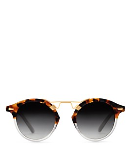 Krewe - Women's St. Louis 24K Round Sunglasses, 46mm