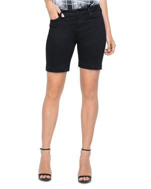 Liverpool Kristy Denim Shorts in Black Rinse