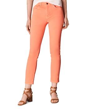 KAREN MILLEN - Cropped Skinny Jeans in Coral