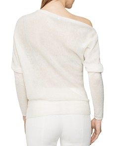 REISS - Holly Draped Off-the-Shoulder Sweater