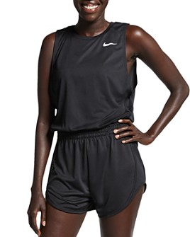Nike - Mesh-Inset Romper