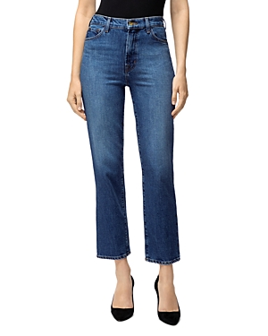 J Brand Jules High-Rise Straight Leg Ankle Jeans in Metropole