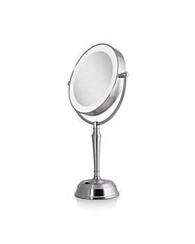 Zadro - LED Lighted Vanity Mirror with Rechargeable Battery & USB Port, 1X/10X Magnification