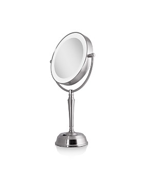 Zadro - LED Lighted Vanity Mirror with Rechargeable Battery & USB Port, 1X/0X Magnification