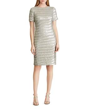 Ralph Lauren - Sequined Stripe Dress