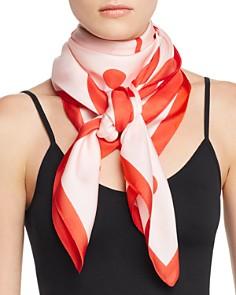 Echo - Geometric Floral Silk Scarf