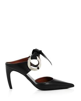 Proenza Schouler - Women's Grommet Pointed Toe High-Heel Mules