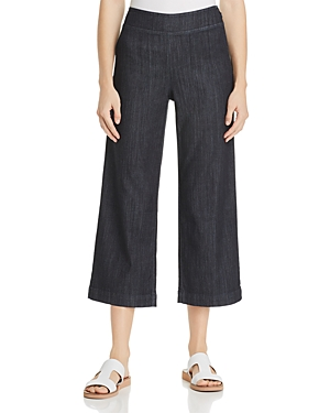 Nic+Zoe Petites Summer Day Wide-Leg Jeans in Midnight Wash