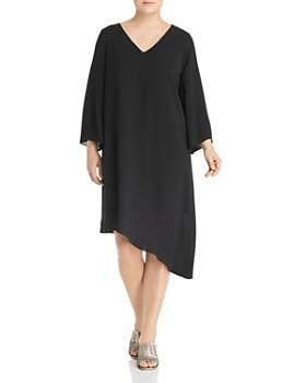 9ff295c4efa Adrianna Papell Plus - Chiffon Asymmetric-Hem Dress ...