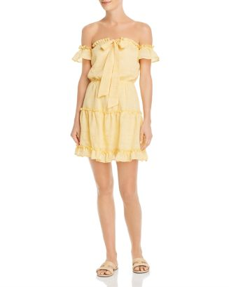 Ruffled Off The Shoulder Mini Dress by Sage The Label