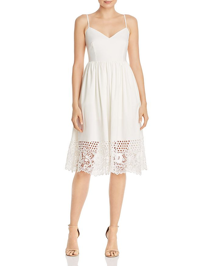 FRENCH CONNECTION - Salerno Crocheted-Hem Jersey Dress