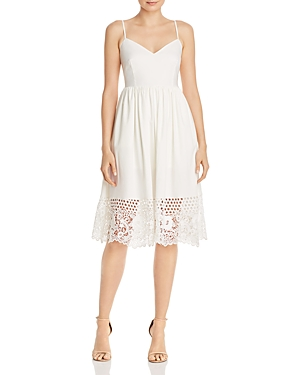 French Connection Dresses SALERNO CROCHETED-HEM JERSEY DRESS