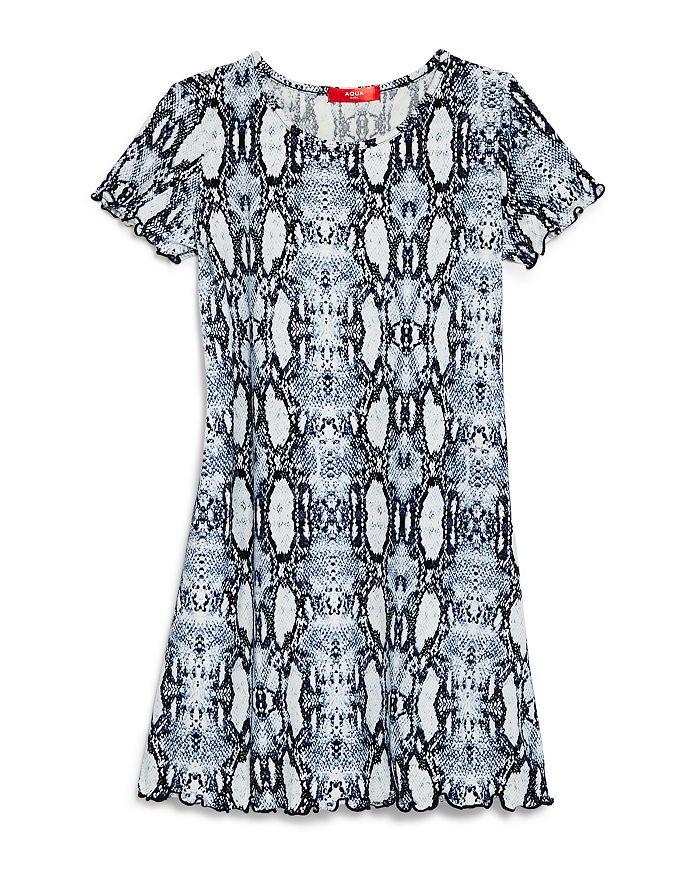 AQUA - Girls' Snakeskin Print Dress, Big Kid - 100% Exclusive