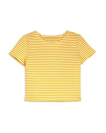 AQUA - Girls' Striped Tee, Big Kid - 100% Exclusive