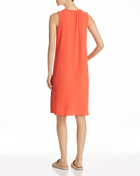 Eileen Fisher - Shirred Keyhole Dress