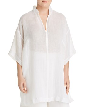 1896206414d3 Eileen Fisher Plus - Organic Linen Tunic Top ...