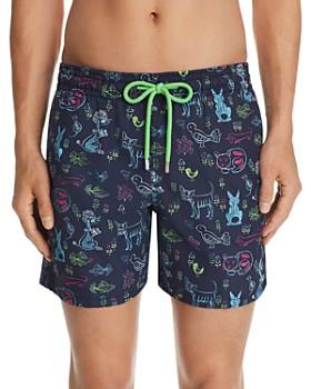 Vilebrequin - Moorea Florence Animal-Print Swim Shorts