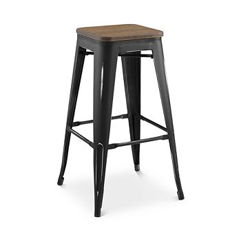Modway - Promenade Backless Wooden Seat Bar Stool