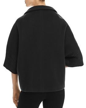 Herno - Metallic Rib-Knit Cape Coat - 100% Exclusive