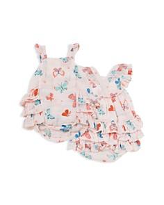 Angel Dear - Girls' Butterfly Print Bubble Romper - Baby